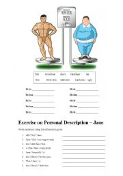 English Worksheets: Body Comparison