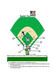 English Worksheet: baseball vocabulary