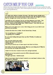 Catch Me If You Can Part 2 Quotes Esl Worksheet By Greenwoods