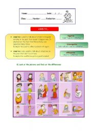 English Worksheet: USED TO�