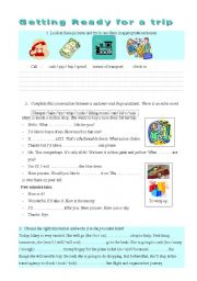 English Worksheets: Getting ready for a trip
