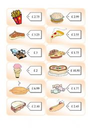English Worksheets: Shopping Cards 7