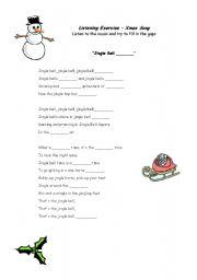 English Worksheet: Xmas Song - Jingle Bells Rock