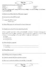 English Worksheet: Billy Elliot worksheet 2