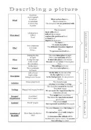 English Worksheets: Describing a picture
