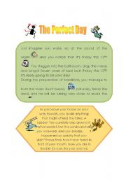 English Worksheets: The Perfect Day