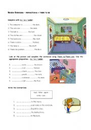 Review: There to be + prepositions