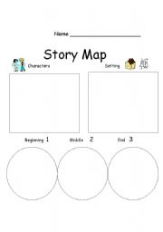 picture relating to Free Printable Story Map identify Tale Map - ESL worksheet through mollym