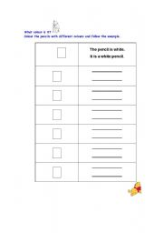 English Worksheets: Colouring  and writing