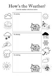 English Worksheet: How´s the Weather - Page 1