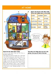 English Worksheet: At home