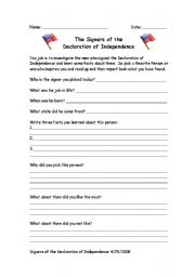 Declaration of Independence Scavenger Hunt Worksheets | Government ...