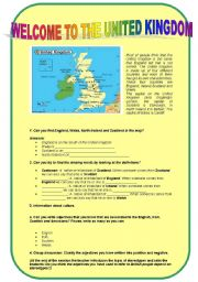 English Worksheet: Welcome to the United Kingdom: rejecting stereotypes
