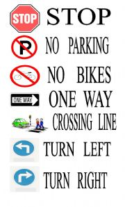 road signs in english End of the free exercise to learn english: traffic signs a free english exercise to learn english other english exercises on the same topic : cars | all our lessons.
