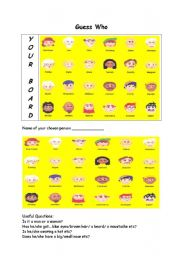 English Worksheet: Guess Who