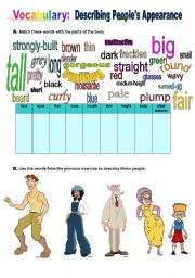 English Worksheet: Describing People�s Appearance