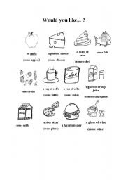 English Worksheet: Would you like some...?