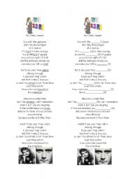 True Colors Song Lyrics and activity sheet
