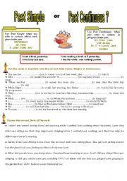 English Worksheet: Past Simple or Continuous