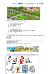 English Worksheets: at the week-end
