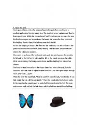 English Worksheet: ladybug reading