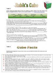 English Worksheets: Rubik�s Cube