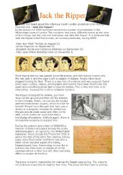 English Worksheets: Jack the Ripper