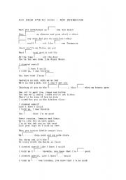 English Worksheet: YOU KNOW I�M NO GOOD - AMY WINEHOUSE