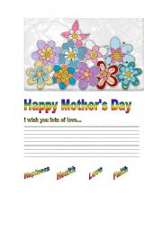 English Worksheets: Happy Mother�s
