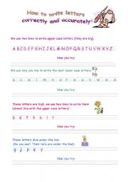 English Worksheets: Correct and accurate writing