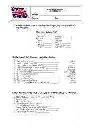 English Worksheet: Horoscopes 2 (worksheet)