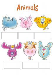 English Worksheet: Animals