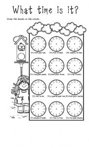 English Worksheet: Time