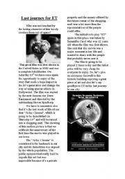 English Worksheets: last journey for ET