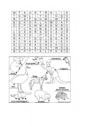 Australian Animals Worksheets