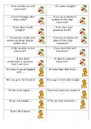 English Worksheet: First Conditional - Speaking activity