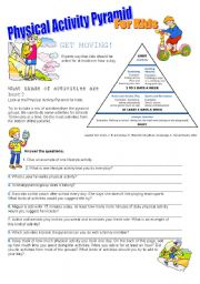 Physical Activity Pyramid Esl Worksheet By Doroteia F