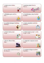 English Worksheets: JOBS - active into passive - part 2