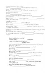 English Worksheet: A SHORT TEST ON WILL/TO BE GOING TO FOR TWO GROUPS