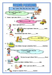 English Worksheets: Possessives