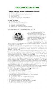 English Worksheets: EMERALD LEGEND