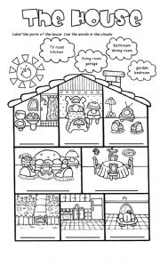 English Worksheet: The house