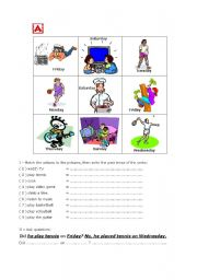 English Worksheet: Information gap: Did he ... ?
