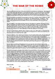 English Worksheets: The War of the Roses