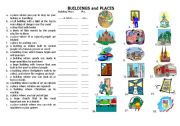 English Worksheet: BUILDINGS and PLACES (p. 1)