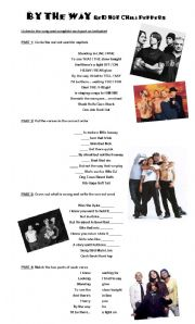 English Worksheets: Song: By the way - Red Hot Chili Peppers