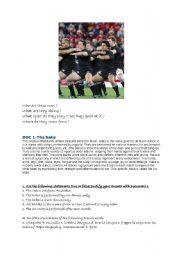 English Worksheet: rugby