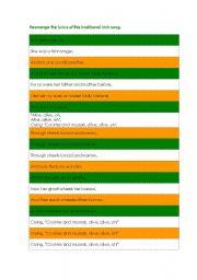 English Worksheet: Song: Molly Malone