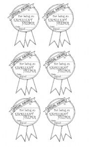 English Worksheets: helpers� awards
