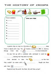 English Worksheets: The history of crisps